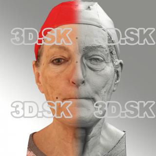 Raw 3D head scan of M phoneme - Drahomira