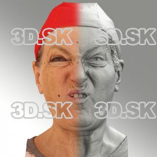 Raw 3D head scan of F phoneme - Drahomira