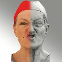 Raw 3D head scan of SCH phoneme - Drahomira