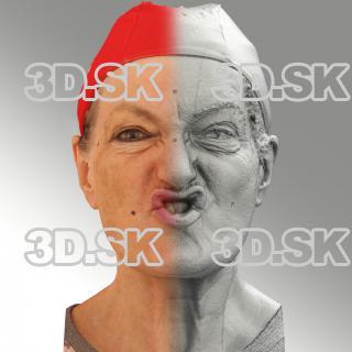 Raw 3D head scan of SCH phoneme - Drahomira