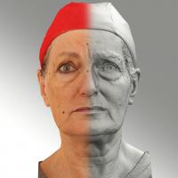 Raw 3D head scan of sad emotion - Drahomira