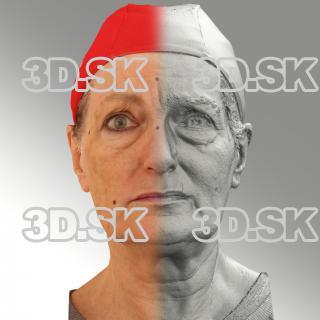 Raw 3D head scan of sad emotion - Drahomira