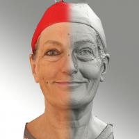 Raw 3D head scan of natural smiling emotion - Drahomira