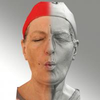 Raw 3D head scan of U phoneme - Drahomira