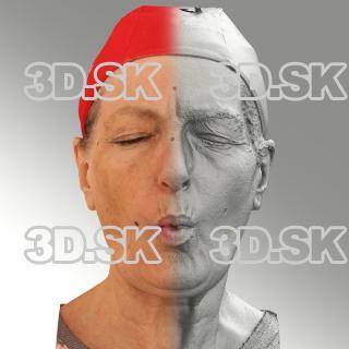 Raw 3D head scan of U phoneme - Drahomira