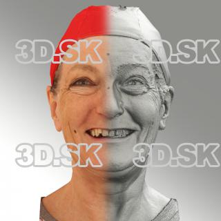 Raw 3D head scan of smiling emotion - Drahomira