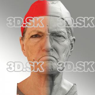 Raw 3D head scan of irate emotion - Drahomira
