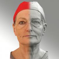 Raw 3D head scan of neutral emotion - Drahomira