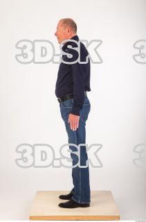 Whole body deep blue shirt jeans of Ed 0003