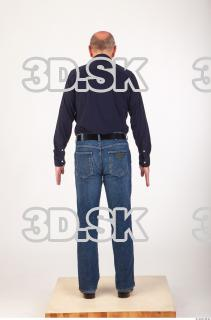 Whole body deep blue shirt jeans of Ed 0005