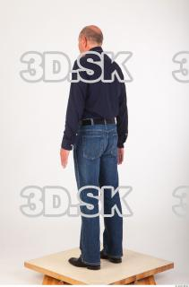 Whole body deep blue shirt jeans of Ed 0004