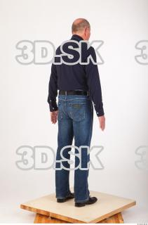 Whole body deep blue shirt jeans of Ed 0006