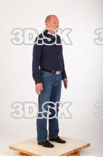 Whole body deep blue shirt jeans of Ed 0008