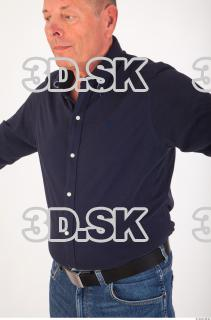 Upper body deep blue shirt of Ed 0004