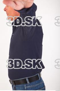 Upper body deep blue shirt of Ed 0006