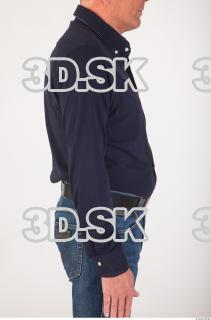 Upper body deep blue shirt of Ed 0012