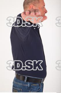 Upper body deep blue shirt of Ed 0013