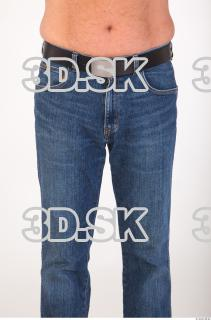 Thigh deep blue jeans of Ed 0001