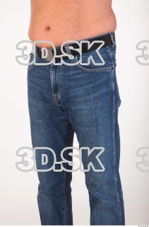 Thigh deep blue jeans of Ed 0002