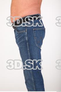 Thigh deep blue jeans of Ed 0003
