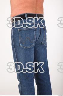 Thigh deep blue jeans of Ed 0004