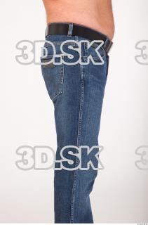 Calf deep blue jeans of Ed 0007