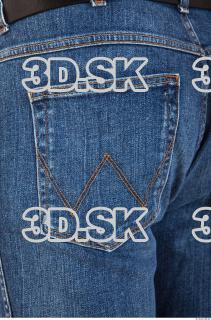 Pelvis deep blue jeans of Ed 0004