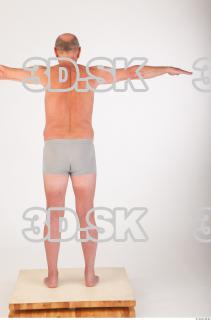 Whole body underwear T poses modeling reference of Ed 0005