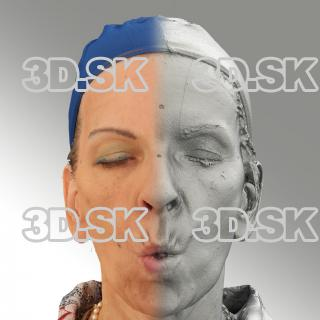 3D head scan of U phoneme - Alena