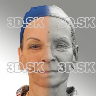 3D head scan of natural smiling emotion - Alena