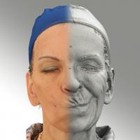 3D head scan of sneer emotion left - Alena