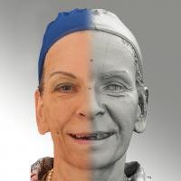 3D head scan of smiling emotion - Alena