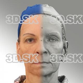 3D head scan of neutral relaxed emotion - Alena