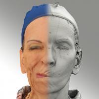 3D head scan of sneer emotion right - Alena