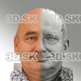 3D head scan of natural smiling emotion - Michal