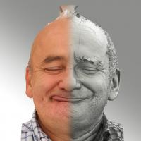 3D head scan of sneer emotion right - Michal