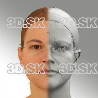 3D head scan of neutral relaxed emotion - Mariana