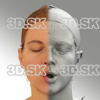 3D head scan of U phoneme - Mariana