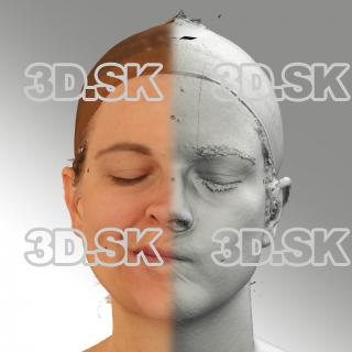3D head scan of sneer emotion right - Mariana