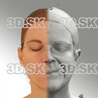 3D head scan of sneer emotion left - Mariana