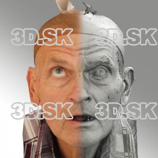 3D head scan of looking up emotion - Petr