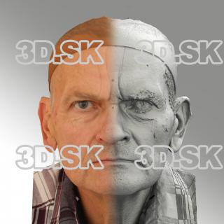 3D head scan of neutral emotion - Petr
