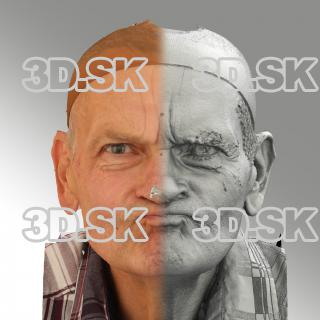 3D head scan of irate emotion - Petr