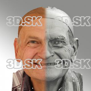 3D head scan of natural smiling emotion - Petr