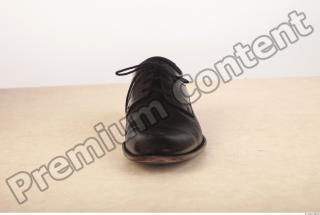 Black leather formal shoe photo reference 0003