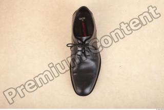 Black leather formal shoe photo reference 0001