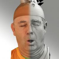3D head scan of O phoneme - Ilja