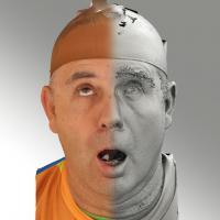 3D head scan of looking up emotion - Ilja