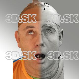 3D head scan of looking up emotion - Ilja