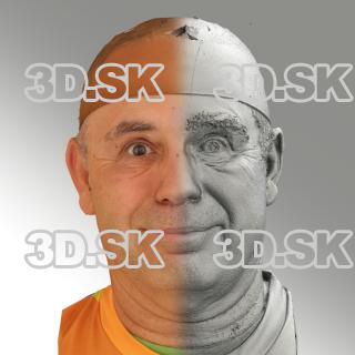 3D head scan of smiling emotion - Ilja